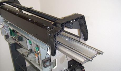 Wartung eines Großformatdruckers